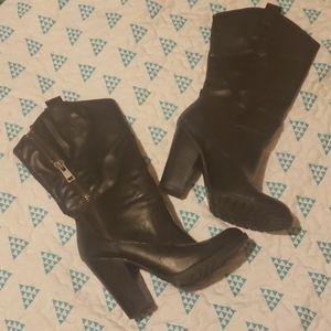 Jessica Simspon Black Boots Size 8